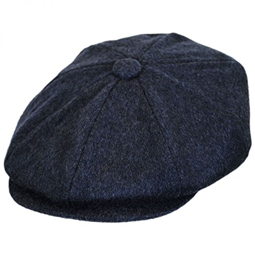 Baskerville Hat Company Cashmere and Wool Newsboy Cap (Large)