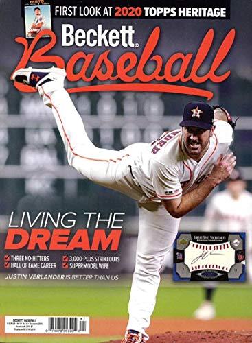 Beckett Baseball Monthly Price Guide Magazine December 2019 Astros Justin Verlander from Beckett
