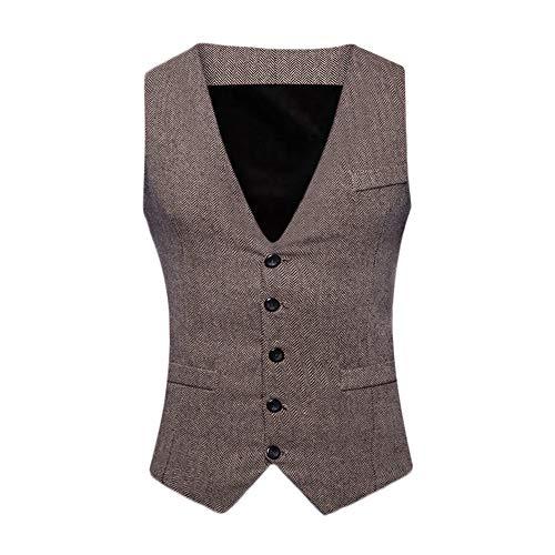 Sunhusing Fashion Men Sleeveless Suit Vest Formal Bussiness Tuxedo Suit Waistcoat Coat