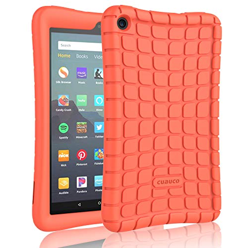 Cuauco Silicone Case for All-New Amazon Fire 7 Tablet(9th Generation,2019 Release)-[Kids Friendly] Light Weight [Anti Slip] Shock Proof Protective Cover for All-New Fire 7 (7