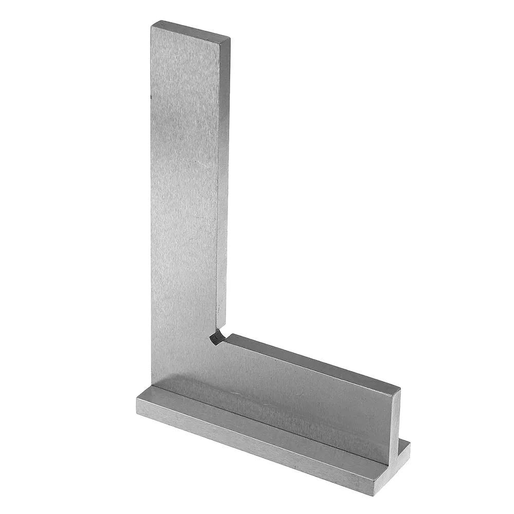Machinist Square 90/º Right Angle Ground Steel Hardened Precision Angle Ruler Engineer/Square with Seat100x70mm