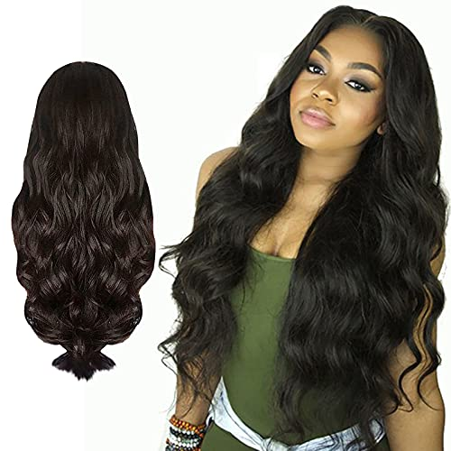 Mortilo Glueless Lace Deep Wave Wigs, Density Human Hair Wigs for Black Women Glueless Water Wave Wet and Wavy Human Hair Wigs 22 Inch (I)