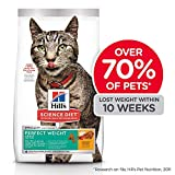Hill's Science Diet Dry Cat Food, Adult, Perfect Weight for Healthy Weight & Weight Management, Chicken Recipe, 7 lb Bag