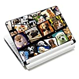"iColor Laptop Skin Sticker Soft Vinyl Sticker Decal Cover for 12"" 13"" 13.3"" 14"" 15"" 15.4"" 15.6"" Sony HP Asus Acer Toshiba Dell Notebook Dogs"