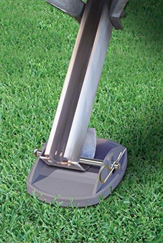 Leisurewize Grey Pro-Paw+ Caravan Jack Pad Foot Leg Stable Level Support - 4 Pack