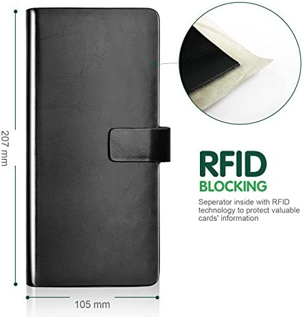 Amazon.com: Lavievert Piel Auténtica Tarjeta De RFID bloqueo ...