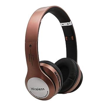 samlike inalámbrico auriculares, portátil y plegable Metal (estuche Surround Sound Headset Noise Reduction Headphone