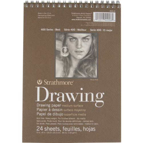 Strathmore STR-400-2 24 Sheet No.80 Drawing Pad, 6 by 8""