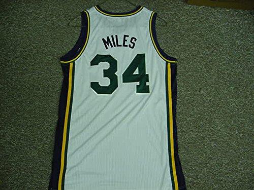 (C.J. Miles Utah Jazz 2011-12 Game Worn Home Jersey )