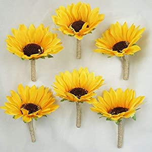 Lily Garden Artificial Calla Lily Sunflower and Peony Flower Wedding Bouquets 2