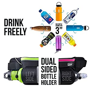 Peak Gear Walking Belt - Water Bottle Fanny Pack for Hiking, Jogging or the Gym. Conveniently Stay Active While Keeping Hands Free - Fits Most Smartphones and Drink Bottles