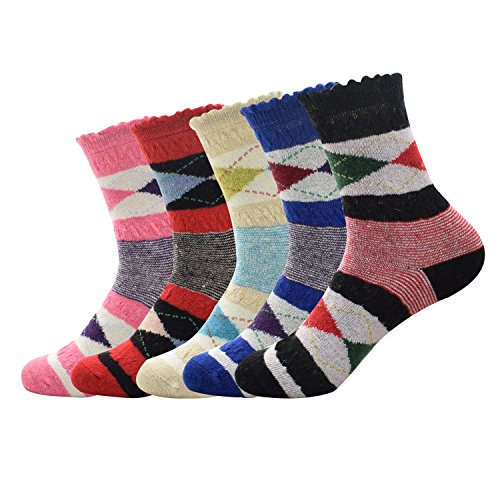 Spring Fever Women's 5 Pairs Super Thick Soft Warm Comfor...