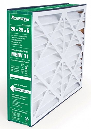 Generalaire 4551 (Old 4501) 20 x 25 x 5 Merv 11 Air Filter- Actual Size= 19 5/8 x 24 3/8 x 4 15/16- 6FM2025-Old 5FM2025