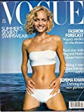 Vogue (UK) July 1998 | Amber Valletta (cover) | Hussein Chalayan, Jemima Khan, Meg & Noel Gallagher at home