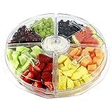 Estilo EST0316 8 Section Appetizer Platter On Ice with Lids, Clear
