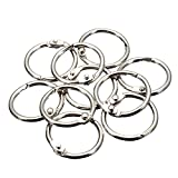 MyLifeUNIT Book Rings, Loose Leaf Binder Rings, 50 Pack, Silver (1 inch)