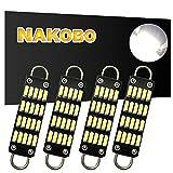 "NAKOBO 561 Bulb 44mm Bright White Festoon LED Bulb, 20-SMD 4014 Rigid Loop 1.73"" Interior Dome Map LED Lights 561 562 567 564(pack of 4)"