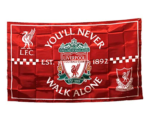 UHBHEA Liverpool Soccer Flag - FC Club Banner for Wall Patio Garden Lawn Outdoor Nylon Flag Red/Home - Flag Liverpool