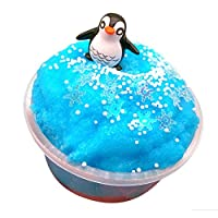Clearance Sale!DEESEE(TM) Cloud Ice Worlds Penguin Cow Sea Bear Puff Squishies Mud Slime Putty Scented Stress Clay Sludge Toy for Xmas Gift