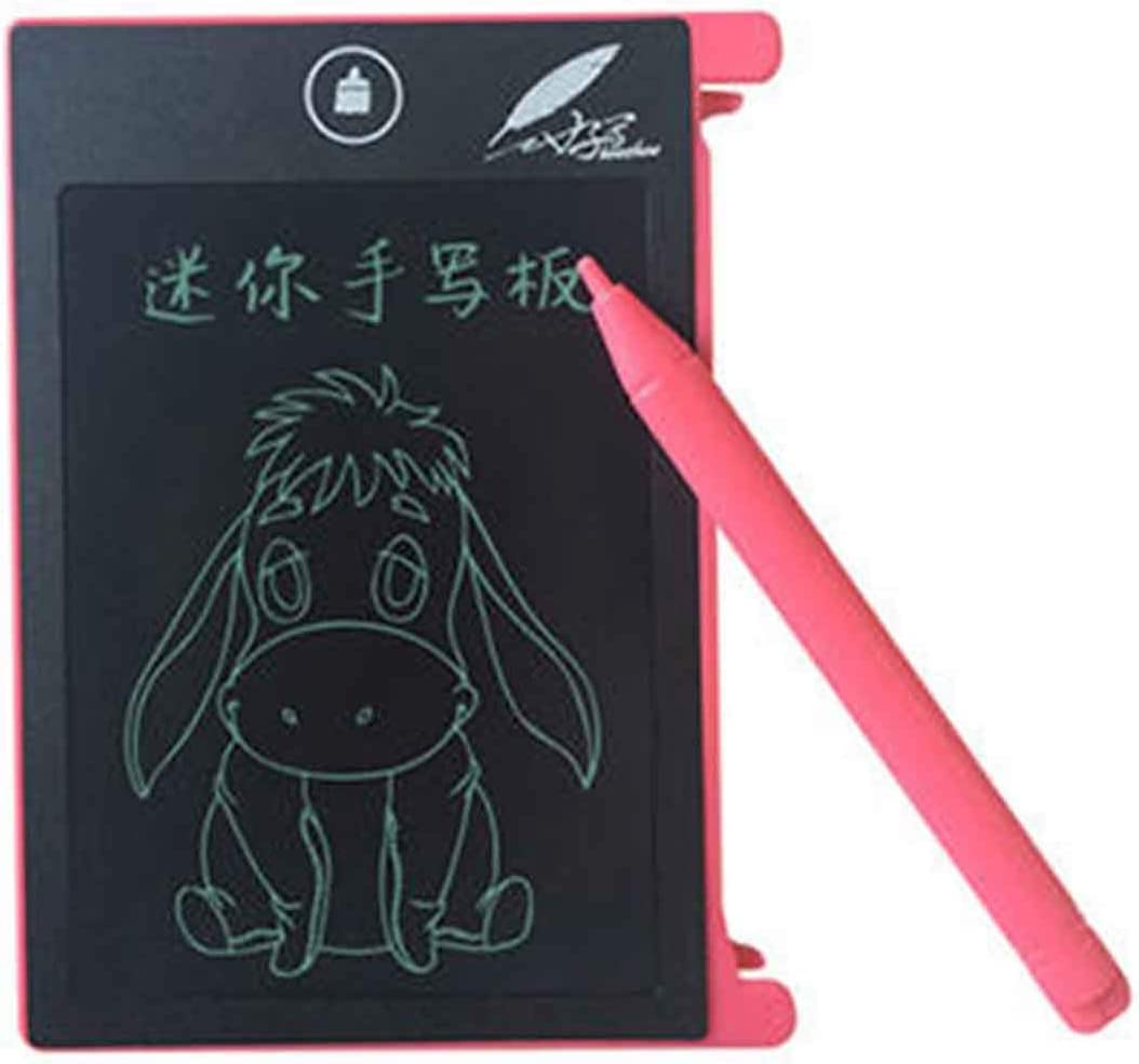 LPER Writing Board Doodle Board Writing Tablet for Writing Board CHUYI 4.4 inch LCD Writing Tablet Portable Electronic Writing Drawing Board Doodle Pads with Stylus for Home School Office Pink
