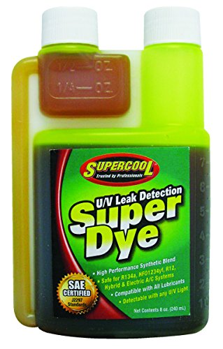 - TSI Supercool 22816 Yellow SAE Certified Super Dye, 8 oz (Treats 32-Vehicles - Self Measure Bottle)