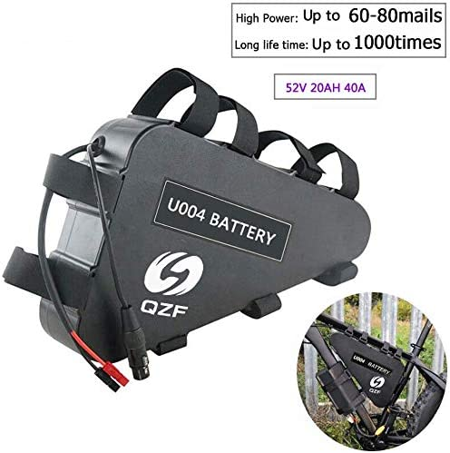 QZF 52V 20AH Ebike Battery, Lithium ion Bike Battery, Electric Bicycles Battery with 40A BMS Protection Board and Charger for 1500W 1200W 1000W 750W 500W Bike Motor Kit