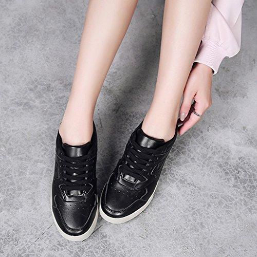 Printemps unique Noir Chaussures Noir femme plat de chaussures chaussures roulettes étudiant taille sport plaque rétro 39 à femme de de chaussures Couleur sport planche HWF 1qEqW6