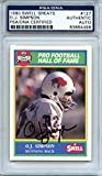 OJ Simpson Signed 1990 Swell Greats Trading Card - Buffalo Bills - PSA/DNA Certified Authentic