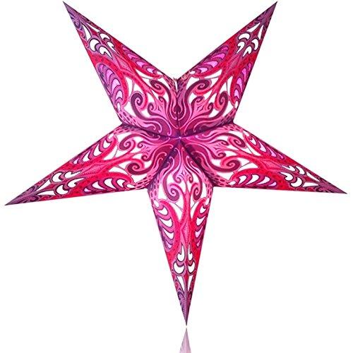 Happy Sales HSSL-FLPNKB Frozen Lake Paper Star Lantern Pink,