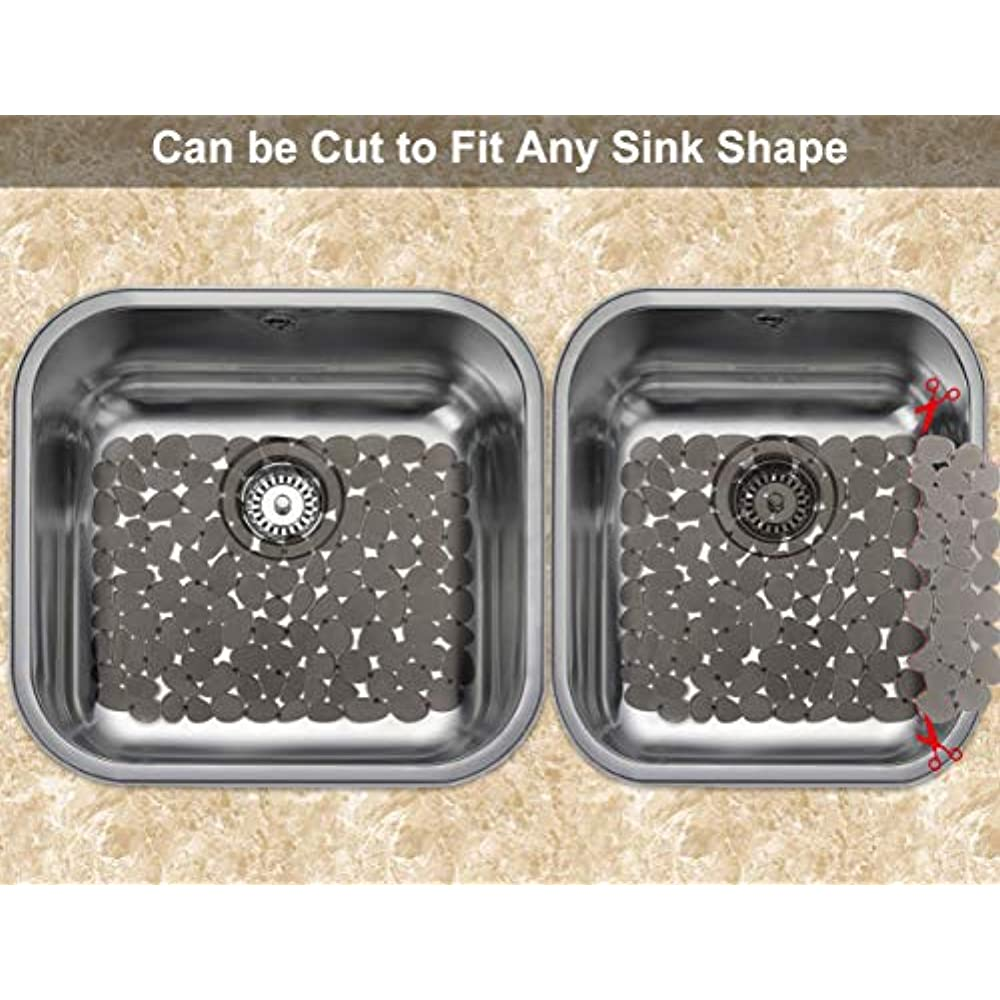 Details about Dish Racks Kitchen Sink Mats, Yolife Odorless Adjustable  Protector For Stainless