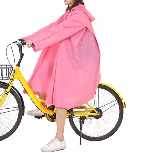 Eva Blanc Voyage Poncho Raincoat Camping M Translucide Elonglin Rose Pour Imperméable À De Pluie Unisexe 1 Taille Vacance En Cape Randonnée Capuche TwSaqP