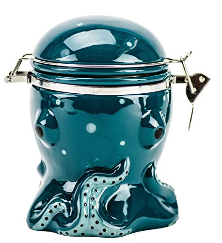 Boston Warehouse Blue Octopus Hinged 6 Inches Snack or Treat Jar