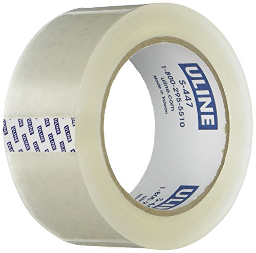 "Uline Thick Packing Tape, 3.5 mil Thick, 2"" x 55 Yd, Crystal Clear, 6 Rolls (S-447)"