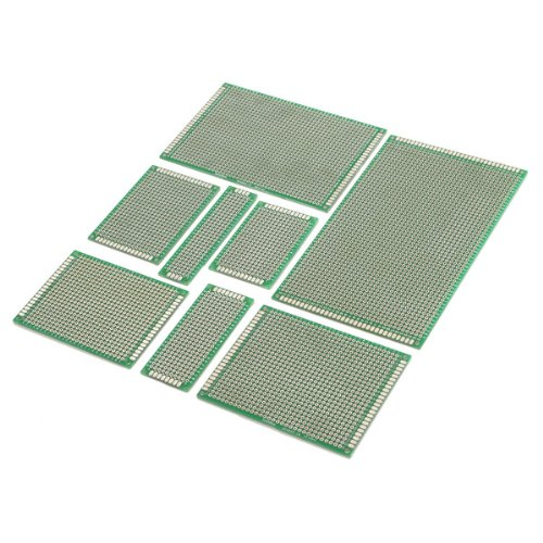 6cm Taille R SODIAL 4pcs Double-Side Prototype FR-4 PCB Printed Circuit Board stripboard universelle 4