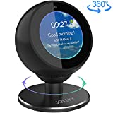 Echo Spot Stand, JOYEKY Echo Spot Adjustable Stand Aluminum Echo Spot Bracket 360 Rotation Metal Bracket Strong Magnetic Base for Echo Spot, Echo Spot Accessories for Bedroom, Black