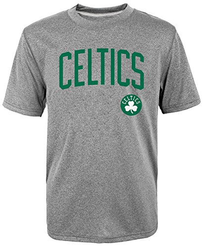 NBA Youth Performance All Star Players Name & Number T-Shirt Grey, Youth Small 8, Isaiah (Youth Celtics Jersey)