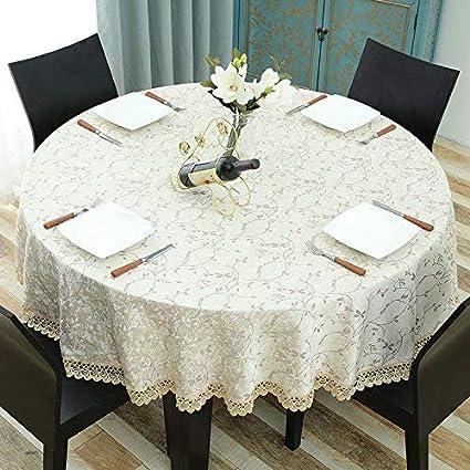 Kreativ Home Europäischer runder Tisch Tischdecke Tischdecke ...