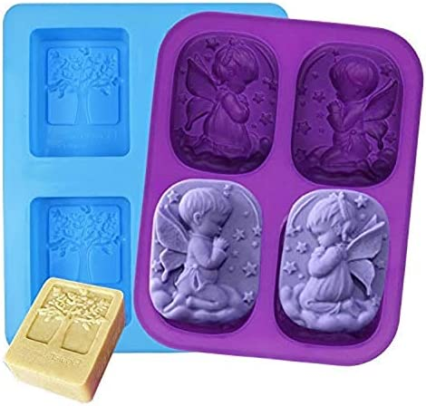 Silicone DIY Soap Mould Olive Tree Mould Essential Oil Soap Mold Craft Perfect