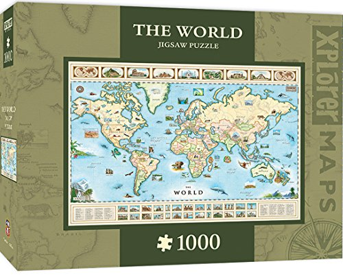 MasterPieces Xplorer The World Map 1000 Piece Jigsaw Puzzle