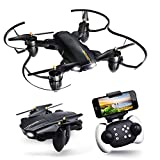 Drone with Camera for Adults, JoyGeek FPV Quadcopter RC Drone with Wi-Fi Camera 2.4GHz 4CH 6-Axis Gyro Foldable Toys for Kids & Beginners with APP Control Altitude Hold Headless Mode 3D FILP