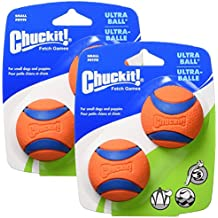 Canine Hardware Chuckit! Ultra Ball, Small, 2-Inch, 4-Pack