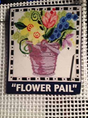 DMC Cross Stitch Pattern - Flowers in Pail Painted Color ()