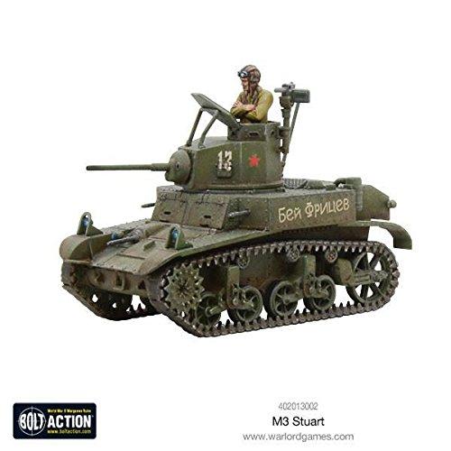 Bolt Action M3 Stuart Allied Light Tank 1:56 WWII Military Wargaming Plastic Model Kit