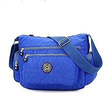 Hynbase Women Fashion Casual Waterproof Nylon Multilayer Cross Boby Shoulder Bag