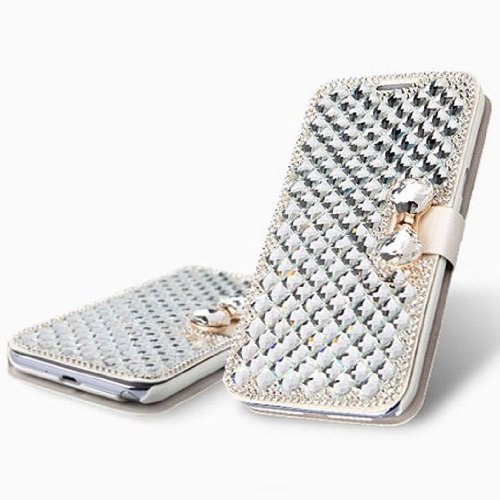 Best Prices! Vandot 3D Rhinestone Crystal Leather Wallet Case for Apple iPhone 6 Plus (5.5-Inch) - W...