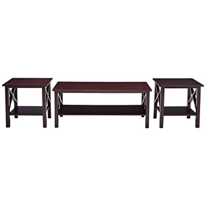 Groovy Amazon Com 3 Pc Coffee Table Set For Living Room One Coffee Ocoug Best Dining Table And Chair Ideas Images Ocougorg