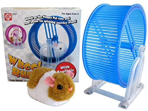 - ABL Happy Hamster Pet with Wheel Runner Battery Operated Kid's Toy