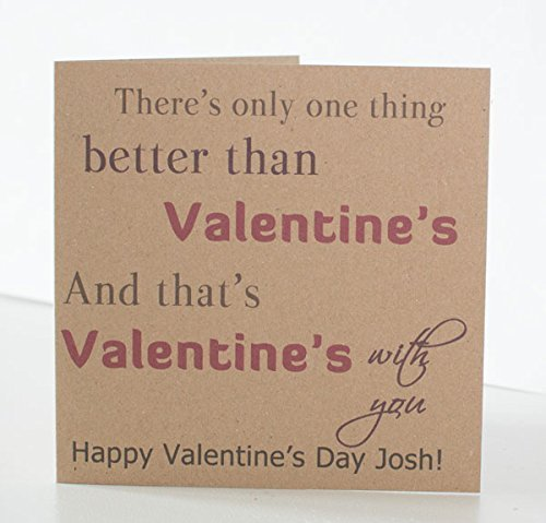 Valentine Card Personalised Valentines Day Card Husband Wife – Valentine Card to Husband