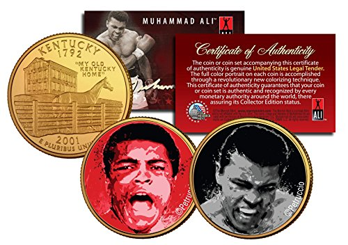 Fight/The Greatest Kentucky Quarters 2-Coin Set Gold Plated ()