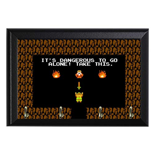 (Retro Legend of Zelda Decorative Wall Plaque Key Leash Coat Jewlery Hook Holder Hanger 8